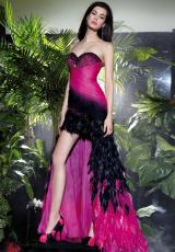 Alyce 2162.  Available in Black/Fuchsia