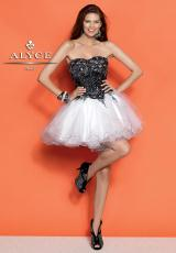 Alyce 4298.  Available in Black/White