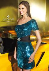 Alyce 4313.  Available in Fuchsia, Silver, Turquoise