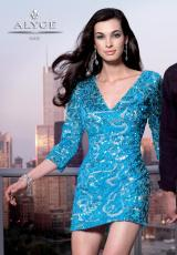 Alyce 4314.  Available in Black/Silver, Turquoise/Silver