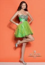 Alyce Short 4316.  Available in Hot Pink, Lime, Purple, Turquoise
