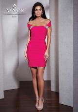 Alyce Short 5499.  Available in Black, Fuchsia