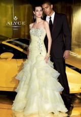 Alyce 6004.  Available in Coral/White, Lilac/White, Yellow/White