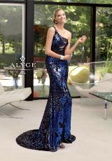 Alyce 6036.  Available in Fuchsia/Silver, Royal/Black