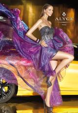 Alyce 6038.  Available in Fuchsia, Purple/Black, Teal