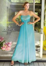Alyce 6044.  Available in Lemon Yellow, Light Turquoise, Pink, Royal, White