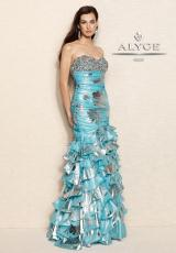 Alyce 6082.  Available in Light Turquoise, Pink, Red/Gold