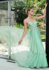 Alyce 6084.  Available in Light Turquoise, Mint Green, Morganite, Sapphire, White