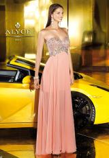 Alyce 6102.  Available in Coral, Ice Blue
