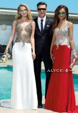 Alyce 2425.  Available in Black/Gold, Red/Silver, White/Gold