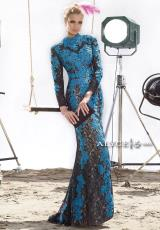 Alyce 2441.  Available in Black/Turquoise