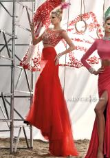 Alyce 2446.  Available in Black/Turquoise/Emerald, Champagne/Fuchsia/Turquoise, Red