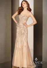 Alyce 5616.  Available in Nude, Silver/Coral
