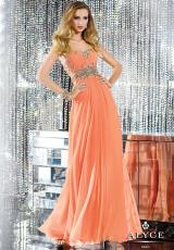 Alyce 6134.  Available in Champagne, Envy, Papaya Punch