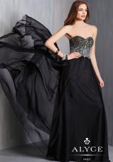 Alyce 6319.  Available in Black, Emerald, Fuchsia