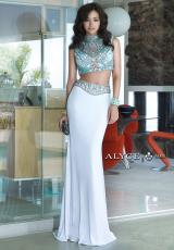 Alyce 6372.  Available in Black/Multi, Diamond White/Multi, Light Turquoise/Multi