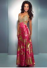 Cassandra Stone 4213A.  Available in Black/Gold, Hot Pink, Ivory/Gold