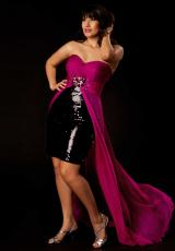 Cassandra Stone II Plus Size 64267K.  Available in Black/Magenta