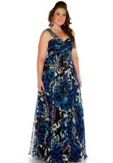 Cassandra Stone II Plus Size 64470K.  Available in Multi