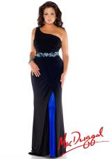 Fabulouss Plus Size 76304F.  Available in Black/Royal