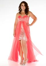 Fabulouss Plus Size 76410F.  Available in Tangerine