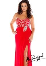 Fabulouss Plus Size 76502F.  Available in Black/Silver, Red/Silver