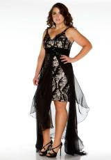 Fabulouss Plus Size 76506F.  Available in Black/Nude