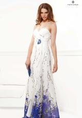 Faviana 7117.  Available in White/Royal Print