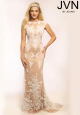 JVN by Jovani JVN20471.  Available in Black/Nude, White/Nude