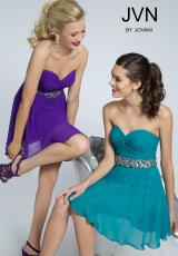 JVN by Jovani JVN90088.  Available in Black, Fuchsia , Light Pink , Mint , Purple, Red, Royal, Teal, White