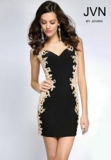 JVN by Jovani JVN20979.  Available in Black/Nude, Red/Nude, White/Nude