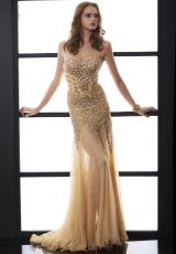 Jasz Couture 5064.  Available in Nude/Gold
