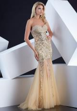 Jasz Couture 5342.  Available in Gold, Turquoise