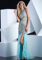 Jasz Couture 5345.  Available in Nude/Aqua, White/Cafe