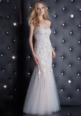 Jasz Couture 5407.  Available in Deep Aqua, White/Nude