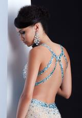 Jasz Couture 5441.  Available in Lime, Nude/Turquoise