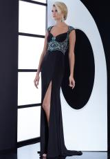 Jasz Couture 5455.  Available in Black, Dark Fuchsia