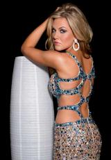 Jasz Couture 4109C.  Available in Black/Gold, Nude/Turquoise, Sky Blue