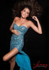 Jasz Couture 4850.  Available in Blue, Nude/Turquoise, Pink