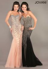 Jovani 6837.  Available in Black/Gold, Blush/Silver, Purple, Red, Royal