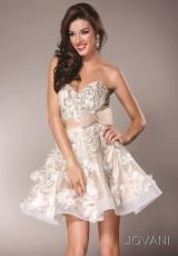 Jovani Cocktail 2933.  Available in Black/Nude, Blush, Ivory/Nude