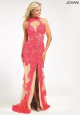 Jovani 92143.  Available in Ivory, Watermelon