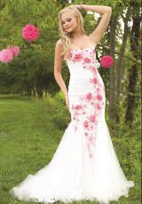 Jovani 24437.  Available in Black/White, Ivory/Coral