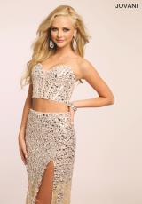 Jovani 98045.  Available in Gunmetal, Navy, Pink, Silver/Nude