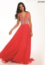 Jovani 99155.  Available in Coral, Peacock