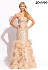 Jovani 4924.  Available in Black/Silver, Nude/Silver