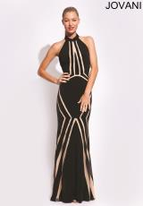 Jovani 89904.  Available in Black/Nude, Red/Nude, White/Nude