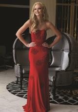 Jovani 22769.  Available in Navy/Navy, Red/Red