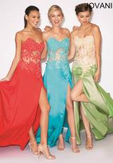 Jovani 10466.  Available in Pink, Pink/Green, Red, Royal, Turquoise