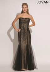 Jovani 89801.  Available in Black/Nude, Gold/Nude, White/Nude
